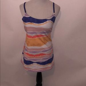 Lululemon Dance Warrior stripe tank top size 8